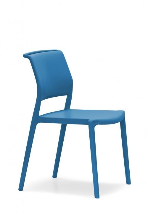Kunststof stoel - blauw - project stoelen