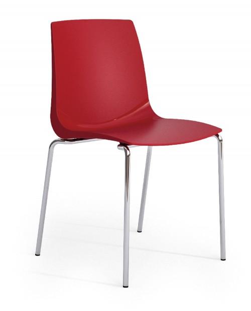 Kunststof stoel Sedia S85 rood
