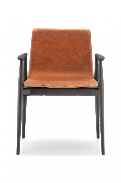 Gestoffeerde stoel Malmö 396 met armleggers - mv kantoor
