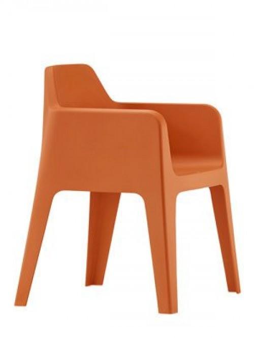 Robuuste stoel Plus 630 - kunststof loungestoel - MV Kantoor