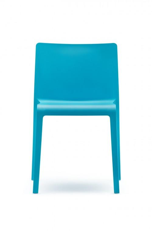 Kunststof stoel Volt 670 - blauwe Pedrali stoel - MV Kantoor