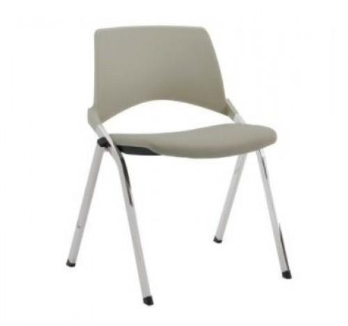 Stoel S140-30 - kunststof stoel met gestoffeerde zitting - MV Kantoor