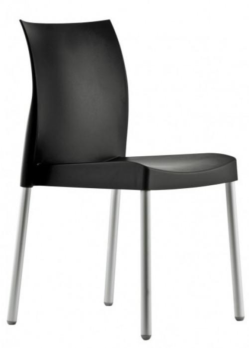 Kunststof stoel Ice 800 zwart