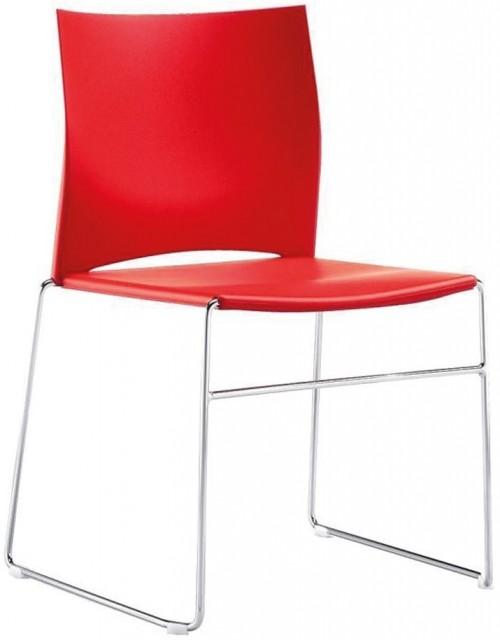 Moderne stoel rood FP-S450 - kantine stoelen - MV Kantoor
