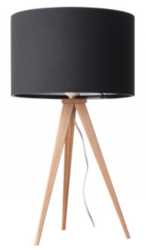 Tafellamp hout met zwarte kap - MV Kantoor