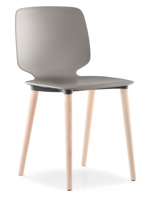 Stoel met houten poten Babila 2750 - project stoelen