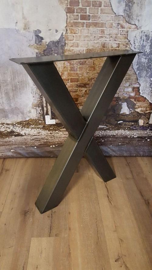 Industriële bartafelpoot X zwaar - mv kantoor - onderstel tafel