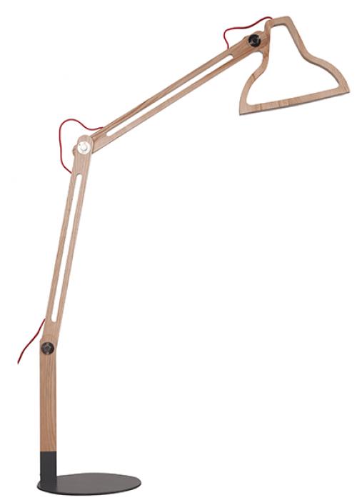 Vloerlamp LED licht hout - MV Kantoor