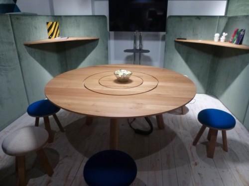 Tafel BuzziPicNic Round - vergadertafel hout