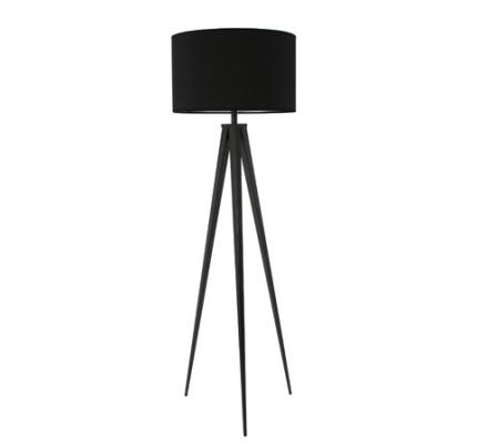 Vloerlamp met zwarte kap
