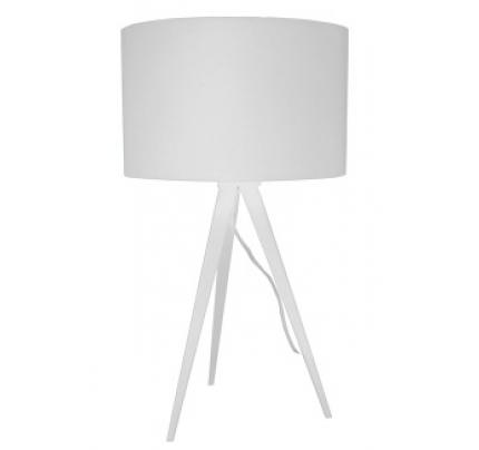 Tafellamp met witte kap