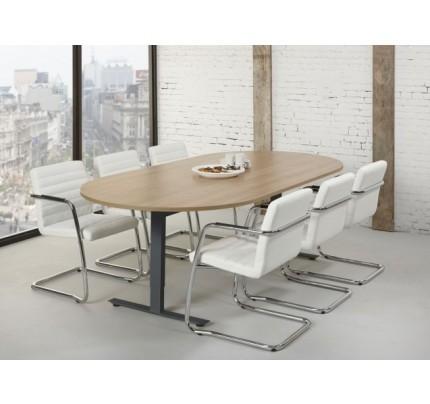 Ovale vergadertafel in hoogte instelbaar Tendenz