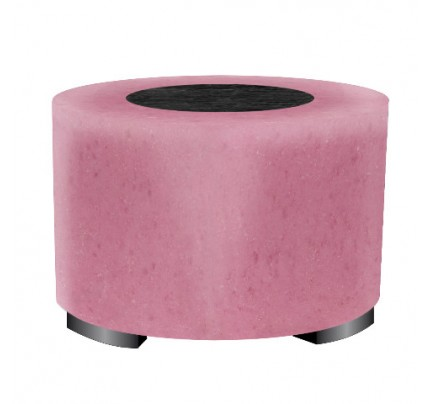 Hocker rond engelse drop roze