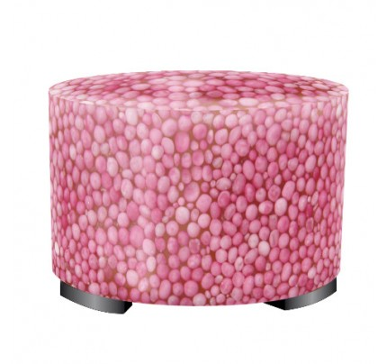 Hocker rond korrels roze