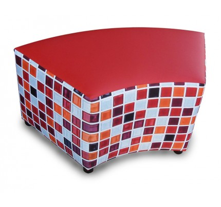Hocker curved Mozaïk