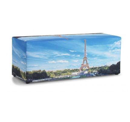 Poef met foto Parijs