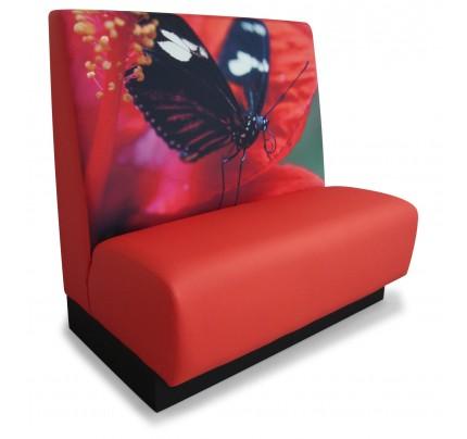 Treinbank rood vlinder