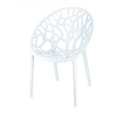 Witte design kuipstoel HS630WT Astrid