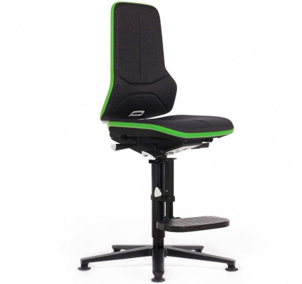 Hoge werkplaatsstoel ESD Neon 3