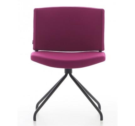 Gestoffeerde stoel Kurvi 4-poots
