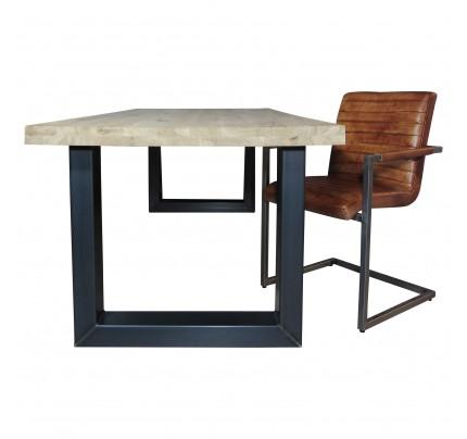 Industriële houten tafel U-model