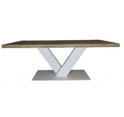 Industriële houten tafel V