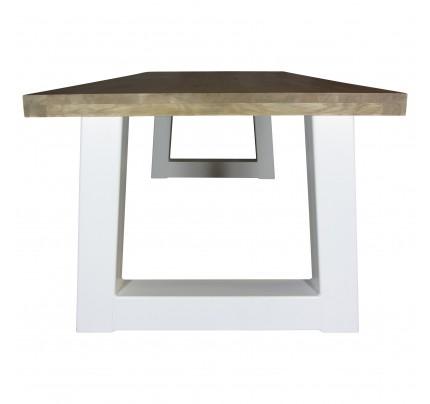Industriële houten tafel trapezium