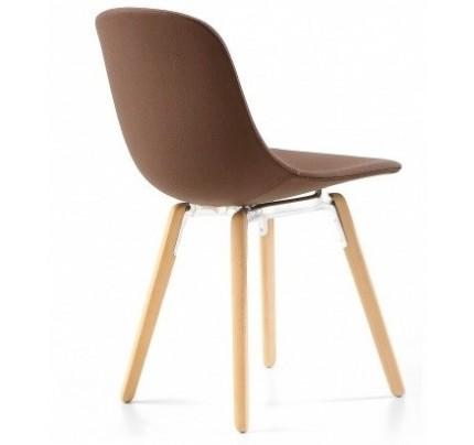 Gestoffeerde stoel Pure Loop Wood