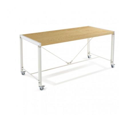 Atelier tafel op wielen 75 cm hoog