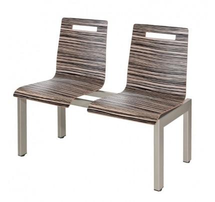 Wachtbank Oscar 2-zits HS520 hout