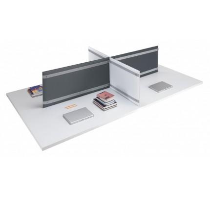 Akoestisch bureaupaneel Pli Desk