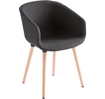 Comfortabele stoel Brave gestoffeerd