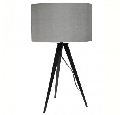 Tafellamp met grijze kap