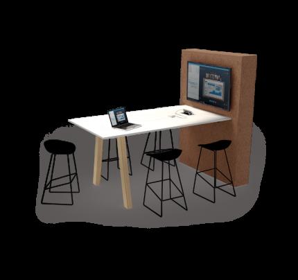 Screenshare vergader sta-tafel Hybrid