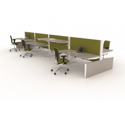 Duo zit-sta bureau MAX Panel Range