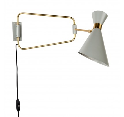 Retro design wandlamp