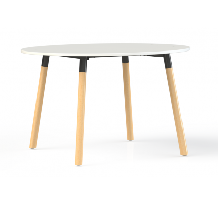 Corner vergadertafel rond 75cm hoog