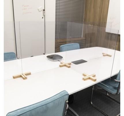 Scheidingsscherm Bureau/Tafel Hout