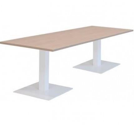 Kolom tafel met 2 vierkante of ronde voeten