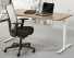 Bureau Tendenz met t-poot is een recht model en verkrijgbaar in verschillende blad en framekleuren en afmetingen.