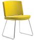 Sledeframe stoel geel