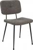 Gestoffeerde retro stoel grijs