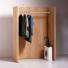 Houten garderobe met panelen