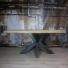 Stalen tafelonderstel houten tafelblad