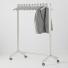 Verrijdbare garderoberek wit