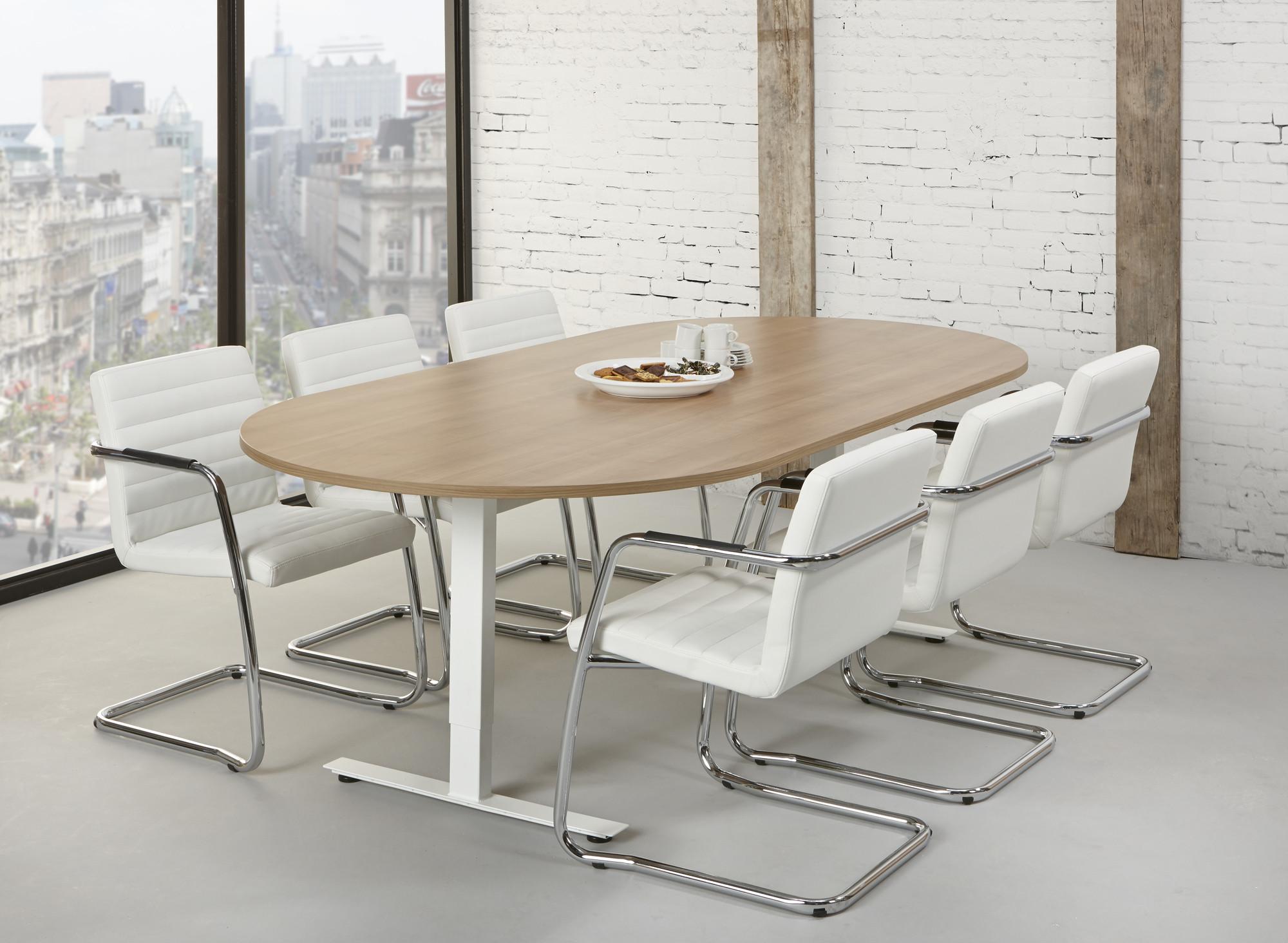 vergadertafel ovaal tendenz ovale vergadertafel 6 personen mv kantoor. Black Bedroom Furniture Sets. Home Design Ideas