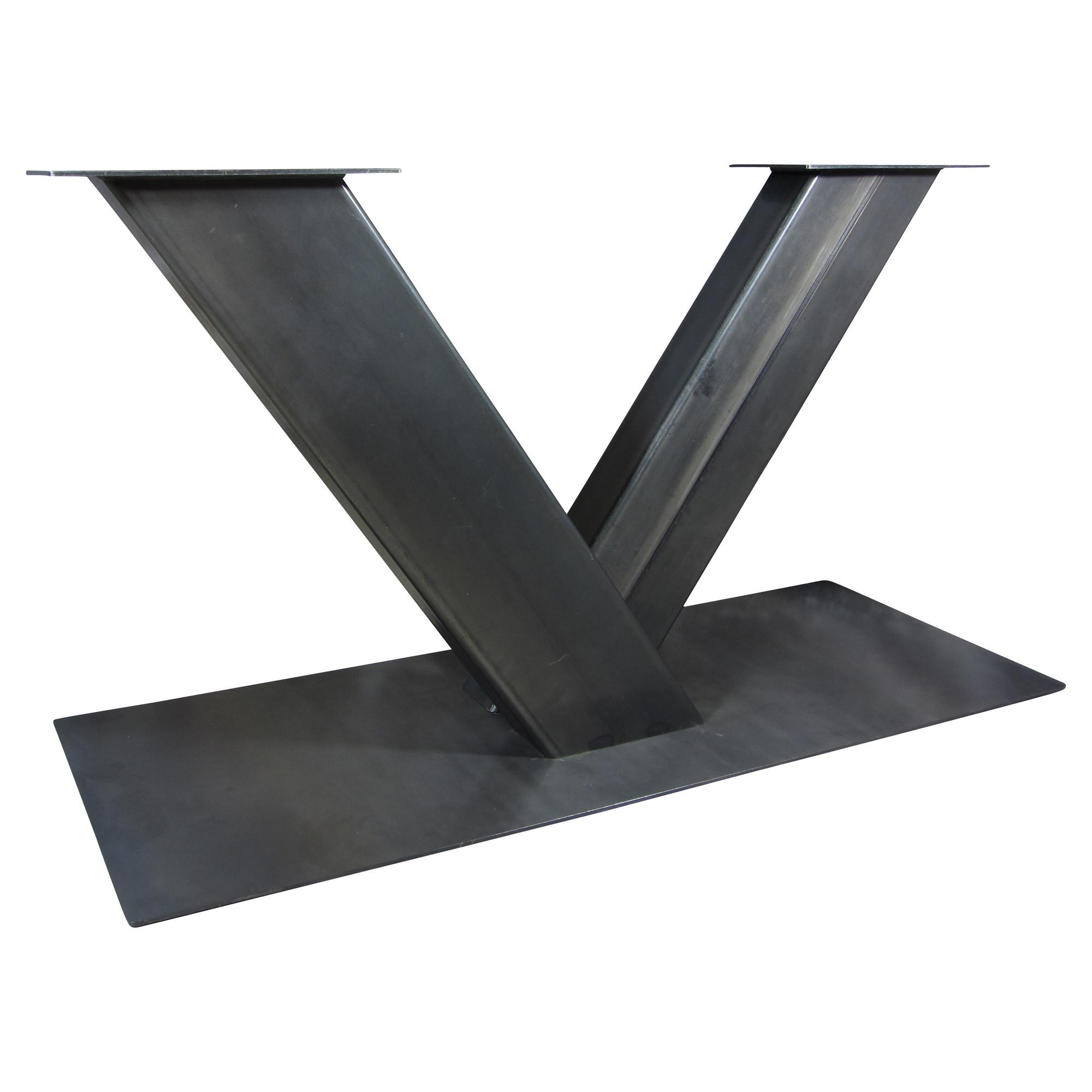 Tafel Met V Poot.Industriele Tafelonderstel V Poot Zwaar