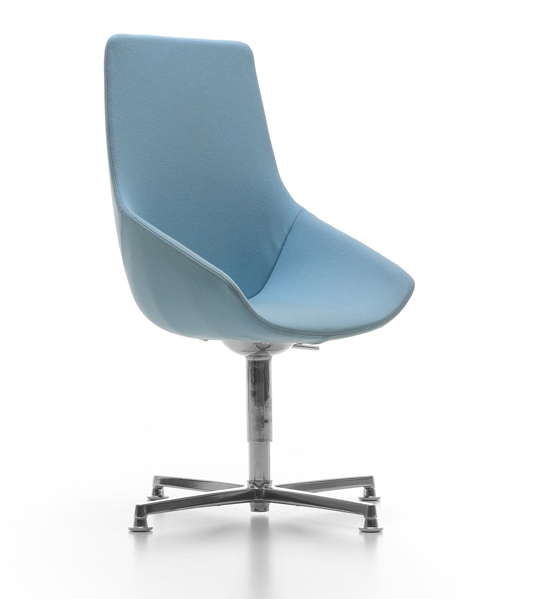 Cello | comfortabele stoel met draaibare kruisvoet en wielen
