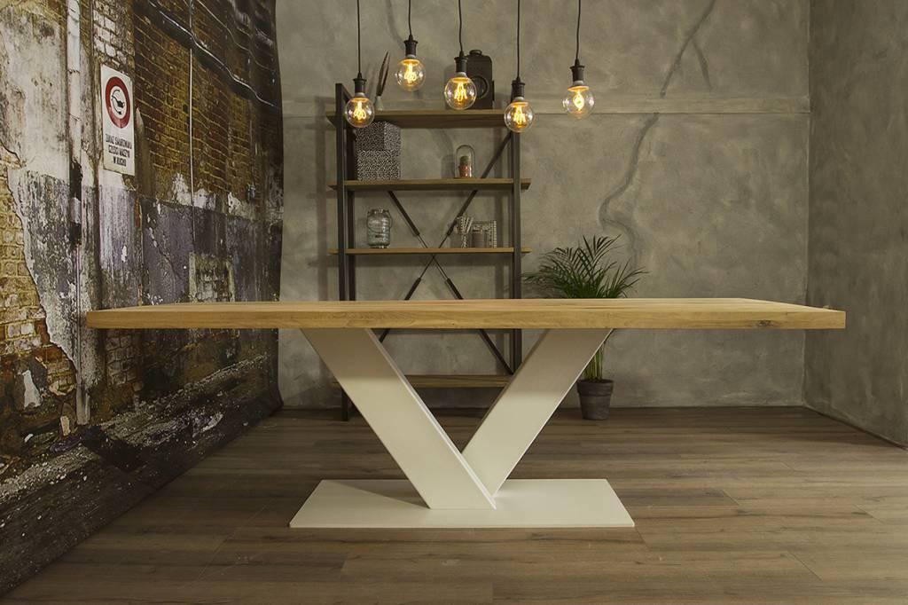 Industrieel Tafel Onderstel : Industriële houten tafel v robuuste tafels mv kantoor