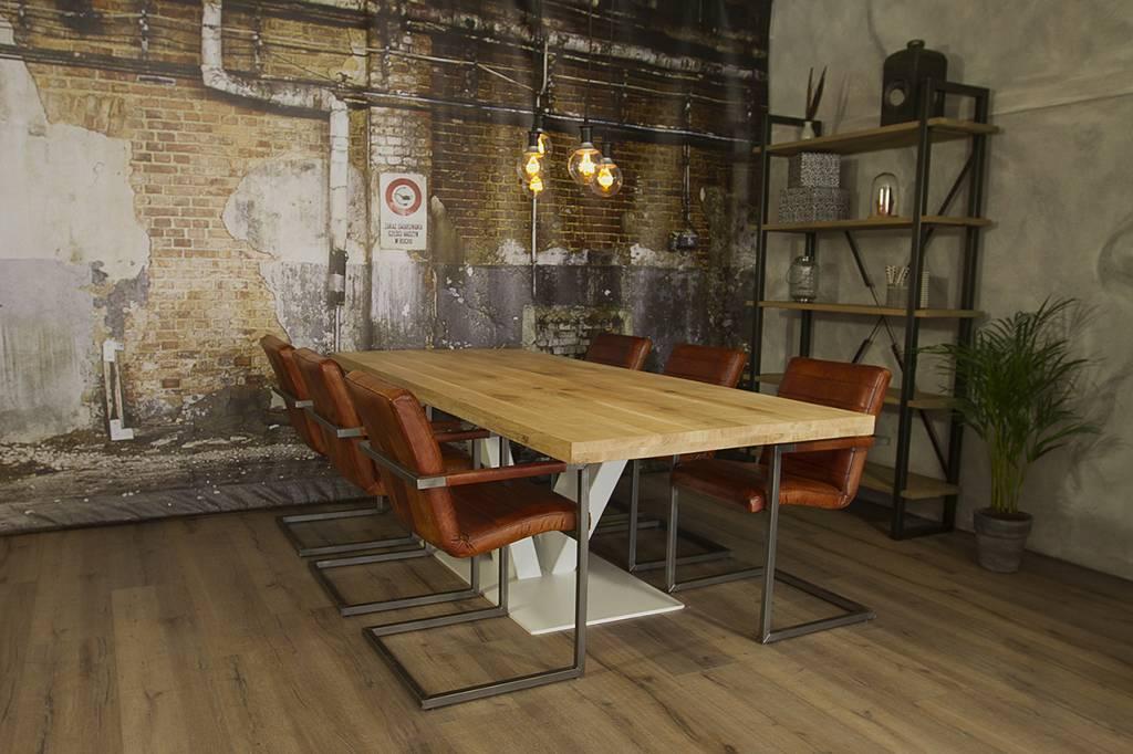 Grote Houten Tafels : Industriële houten tafel v robuuste tafels mv kantoor
